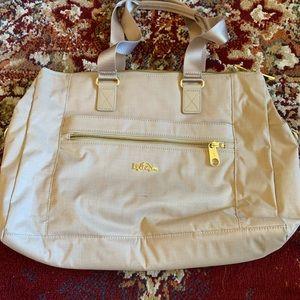 Tan Kipling tote bag